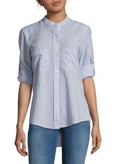 BCBG Max Azria Gibson Striped Long-Sleeve Shirt