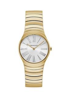 BCBG Max Azria Goldtone Stainless Steel Bracelet Watch