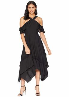 BCBG Max Azria Handkerchief Hem Dress with Tassel Trim