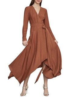 BCBG Max Azria Handkerchief Hem Wrap Dress