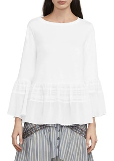 BCBG Max Azria Harmony Mixed-Media Top