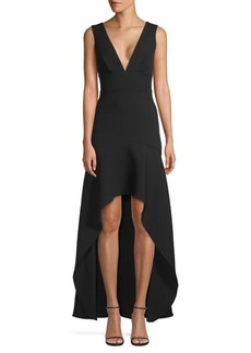 BCBG Max Azria High-Low Hem Gown