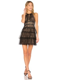 Hilaria Short Halter Dress With Gromme In Black