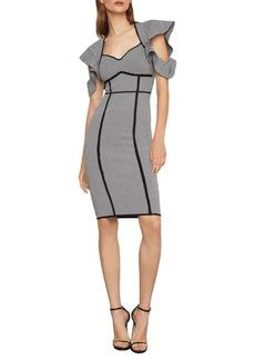 BCBG Max Azria Houndstooth Jacquard Sheath Dress