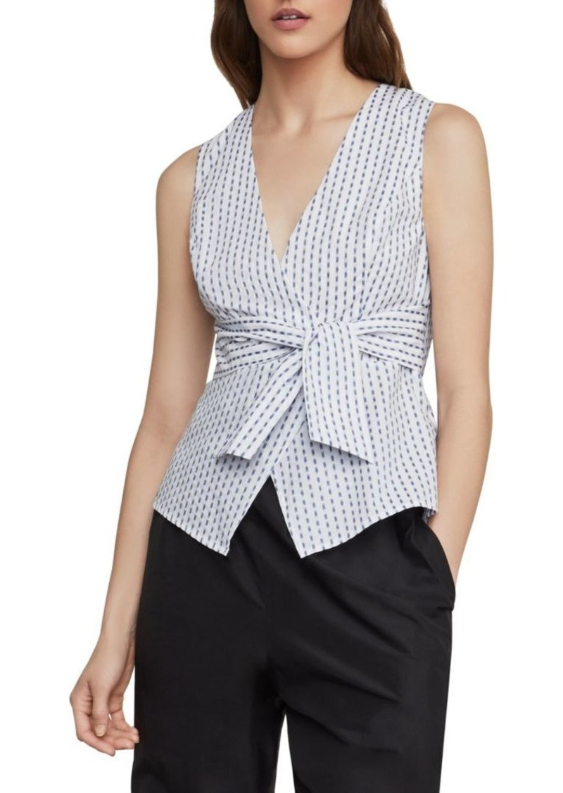 BCBG Max Azria Ikat Stripe Faux Wrap Top