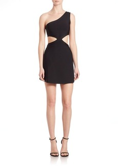 BCBG Max Azria Jacquelin One-Shoulder Cutout Dress