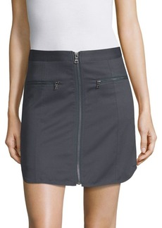 BCBG Max Azria Jania Zip-Front Mini Skirt