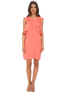 BCBG Max Azria Jenni Ruffle Shoulder Racer Back Dress