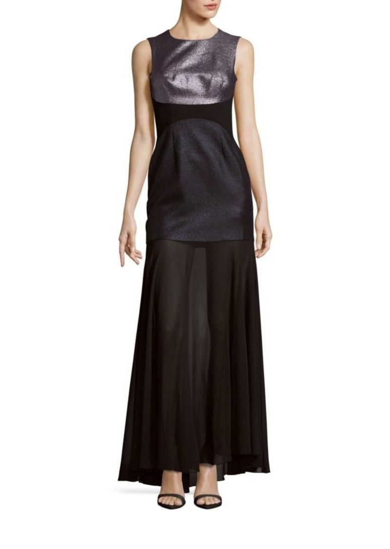 SALE! BCBG Max Azria Jewelneck Sleeveless Gown