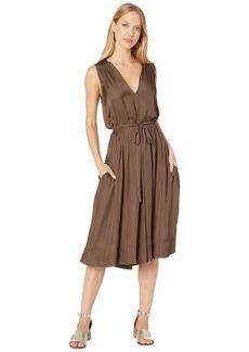 BCBG Max Azria Katia Low V-Neck Ruffled Waistband Dress