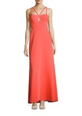 BCBG Max Azria Kelbie Double-Strap Gown