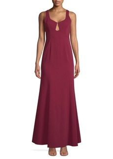 BCBG Max Azria Keyhole-Cut Gown
