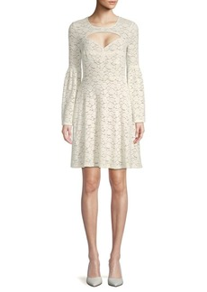BCBG Max Azria Knit Lace Cut-Out Cocktail Dress