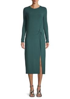 BCBG Max Azria Knit Pleated Sheath Dress