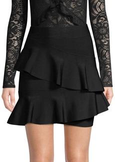 BCBG Max Azria Knit Ruffle Skirt
