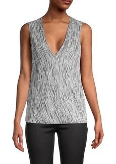 BCBG Max Azria Knit Sleeveless Wrap Top