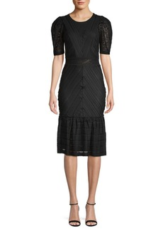 BCBG Max Azria Knitted Cocktail Sheath Dress