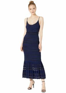 BCBG Max Azria Lace and Mesh Maxi Dress
