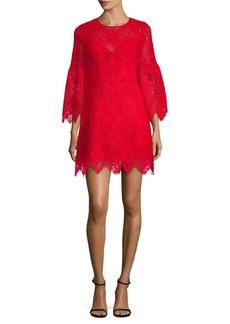 BCBG Max Azria Lace Bell-Sleeve A-Line Dress
