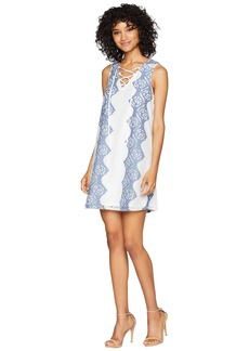 BCBG Max Azria Lace Dress with Lace-Up Ties