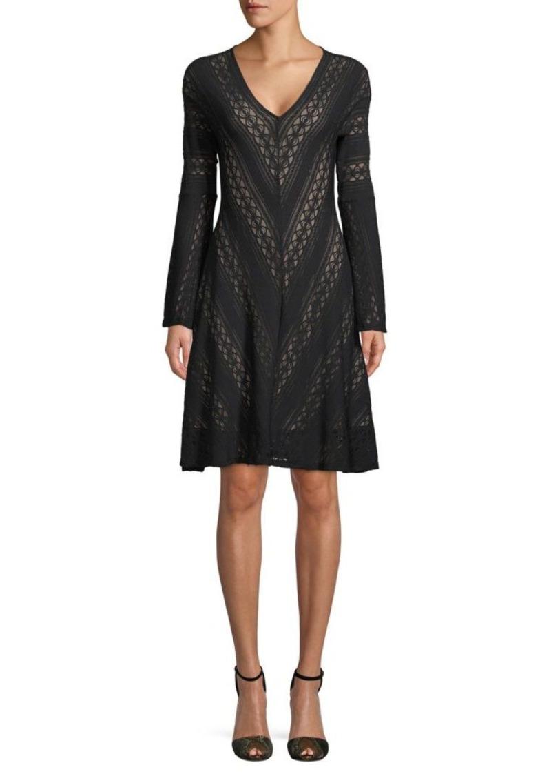 BCBG Max Azria Lace Knee-Length Dress
