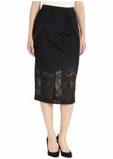 BCBG Max Azria Lace Midi Skirt