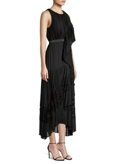 BCBG Max Azria Lace Pleated Cocktail Dress