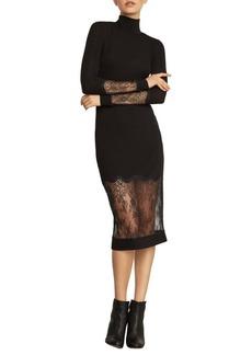 BCBG Max Azria Lace-Trimmed Sheath Dress