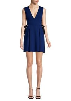BCBG Max Azria Kalie Sleeveless Side-Tie Fit-&-Flare Dress