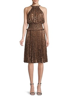 BCBG Max Azria Leopard-Print Dress