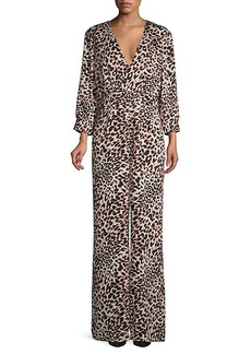 BCBG Max Azria Leopard-Print Jumpsuit