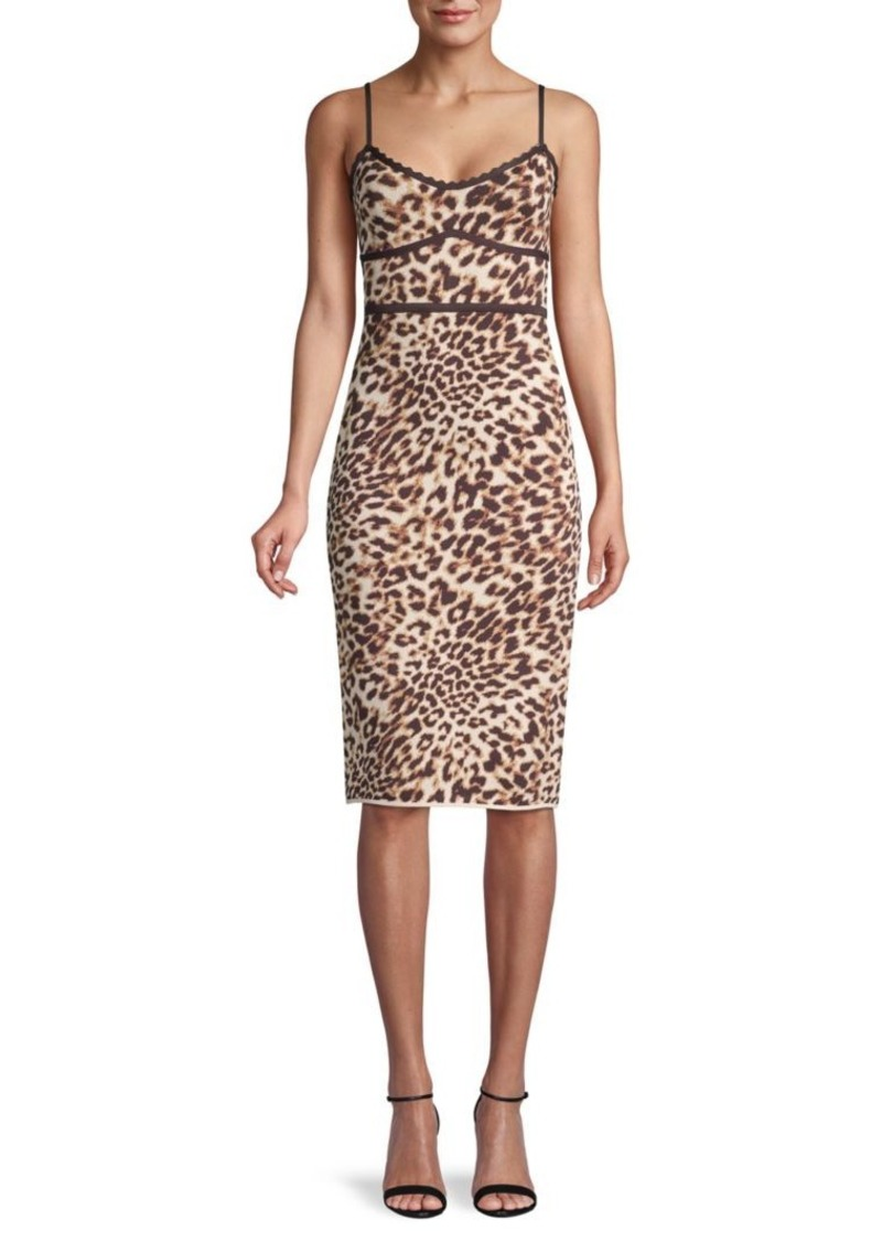 BCBG Max Azria Leopard-Print Sheath Dress