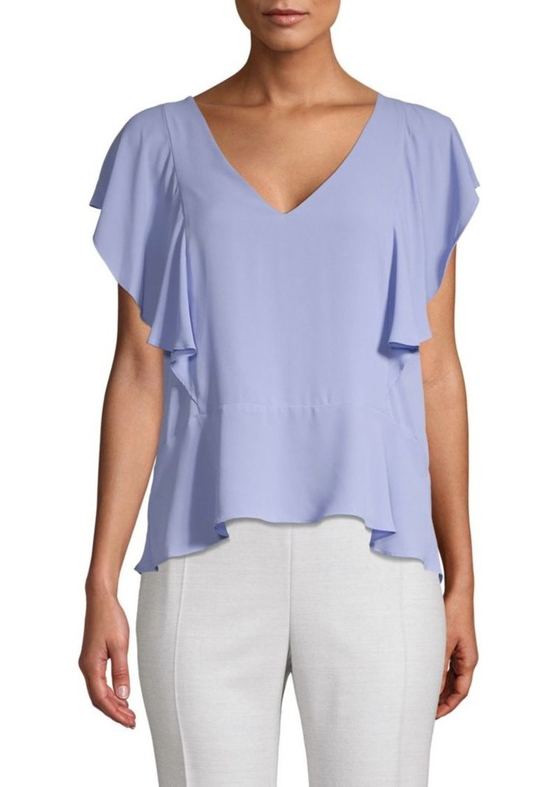 BCBG Max Azria Lindley Ruffle Top