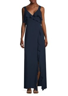 BCBG Max Azria Long Ruffle Dress