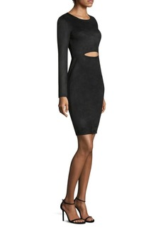 BCBG Max Azria Long-Sleeve Cutout Dress