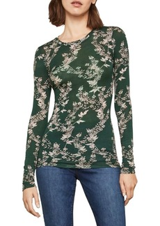 BCBG Max Azria Long-Sleeve Floral Top