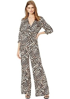 BCBG Max Azria Long Sleeve Printed Jumpsuit
