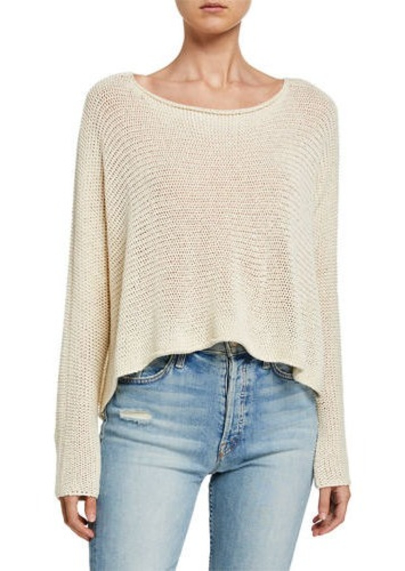 BCBG Max Azria Loose Fit Linen-Blend Sweater
