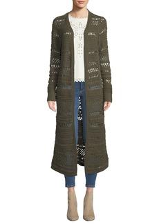 BCBG Max Azria Loose-Knit Cotton-Blend Duster Cardigan