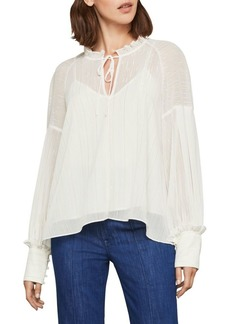 BCBG Max Azria Lurex Pinstriped Blouse