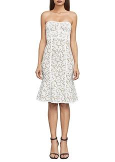 BCBG Max Azria Lynne Jacquard Strapless Dress