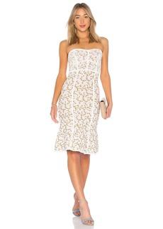 Lynne Jacquard Strapless Dress