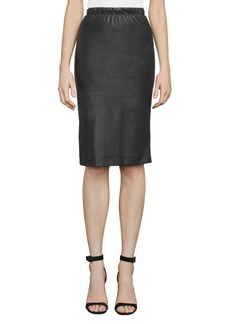BCBG Max Azria Lyric Faux Leather Pencil Skirt