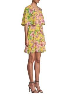 BCBG Max Azria Mabel Floral Crepe Mini Dress