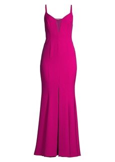 BCBG Max Azria Mesh Detail Evening Gown