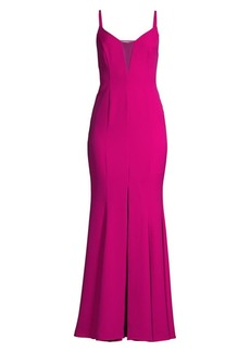 BCBG Max Azria Mesh Detail Evening Gown