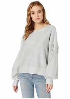 BCBG Max Azria Metallic Balloon Sleeve Sweater