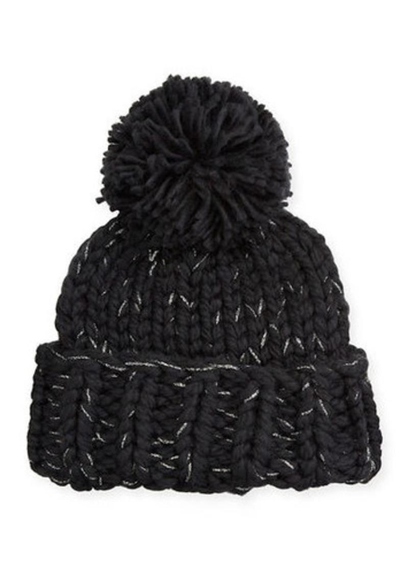 BCBG Max Azria Metallic Chunky Knit Beanie