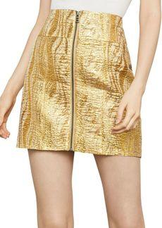 BCBG Max Azria Metallic Jacquard Mini Skirt