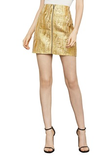 BCBG Max Azria Metallic Mini Pencil Skirt